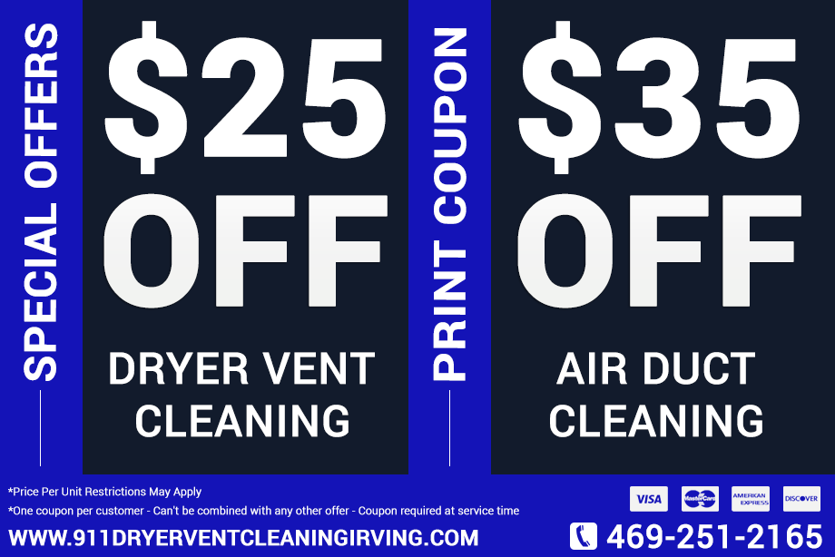 911 Dryer Vent Cleaning Irving TX | Professional Lint (Cleaner)